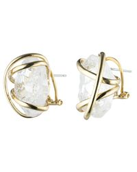 Alexis Bittar - White Caged Crystal Nugget Studs You Might Also Like - Lyst