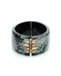 Alexis Bittar - Multicolor Golden Studded Hinge Bracelet You Might Also Like - Lyst