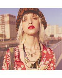 Alexis Bittar - Multicolor Geometric Stone Bib Necklace - Lyst