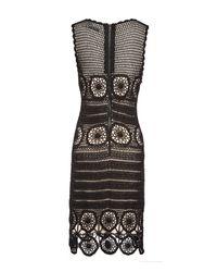 Alice + Olivia - Black Jeannette Scoopneck Dress - Lyst