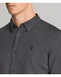AllSaints - Multicolor Westlake Half Sleeve Shirt for Men - Lyst