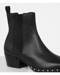 AllSaints - Black Ellis Chelsea Boot - Lyst