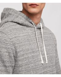AllSaints - Gray Mind Hoodie for Men - Lyst