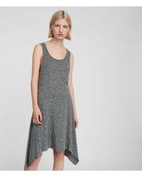 AllSaints - Gray Ella Flame Dress - Lyst