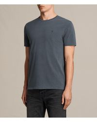 AllSaints   Black Ossage Crew T-shirt for Men   Lyst