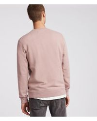 AllSaints - Pink Raven Crew Sweatshirt for Men - Lyst