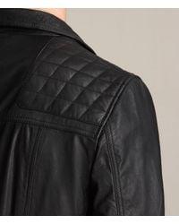 AllSaints | Black Kushiro Leather Biker Jacket for Men | Lyst