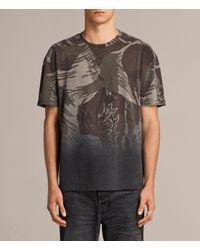 AllSaints | Black Contour Crew T-shirt for Men | Lyst