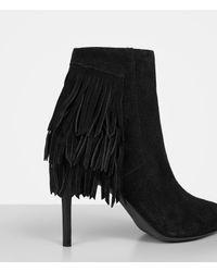 AllSaints - Black Xandra Suede Ankle Boots - Lyst