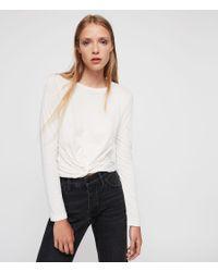 AllSaints - White Carme T-shirt - Lyst