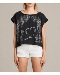 AllSaints - Black Benin Pina T-shirt - Lyst