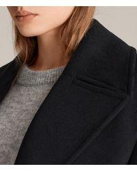 AllSaints - Blue Remi Coat - Lyst