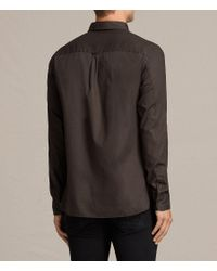 AllSaints - Brown Redondo Shirt for Men - Lyst