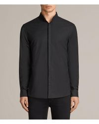 AllSaints - Black Augusta Shirt for Men - Lyst
