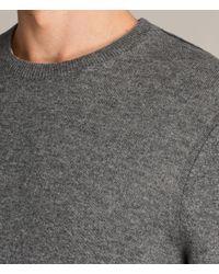AllSaints - Gray Alec Crew Sweater for Men - Lyst