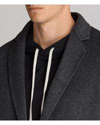 AllSaints - Black Foley Coat for Men - Lyst