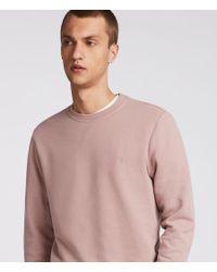 AllSaints - Pink Raven Crew Sweatshirt for Men - Lyst