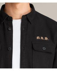 AllSaints - Black Zeeland Shirt for Men - Lyst
