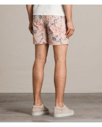 AllSaints - Pink Kauai Swim Short for Men - Lyst
