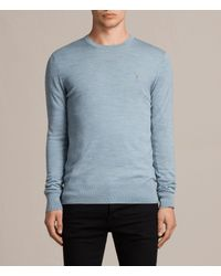 AllSaints Blue Mode Merino Crew Sweater Usa Usa for men