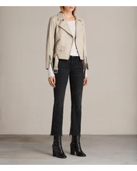 AllSaints | Multicolor Cole Leather Biker Jacket | Lyst
