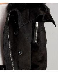 AllSaints - Black Trux Bomber Jacket - Lyst