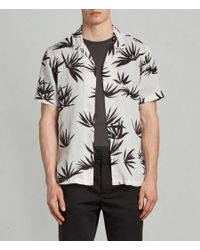 AllSaints - White Bhutan Hawaiian Shirt for Men - Lyst