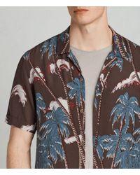 AllSaints - Blue Nalu Hawaiian Shirt for Men - Lyst