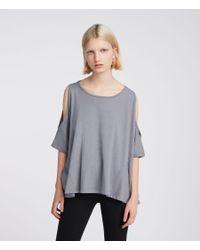 AllSaints - Gray Ella Fifi T-shirt - Lyst
