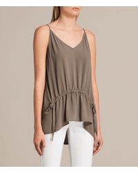 AllSaints - Green Isabel Top - Lyst