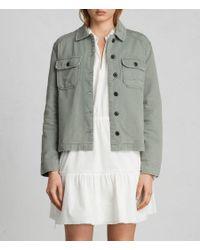 AllSaints - Multicolor Jemma Military Shirt - Lyst