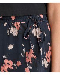 AllSaints | Blue Kaplan Kirsch Silk Shorts | Lyst