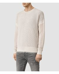 AllSaints - Natural Arden Crew Sweater Usa Usa for Men - Lyst