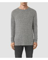 AllSaints | Multicolor Aurora Long Sleeve Crew T-shirt for Men | Lyst