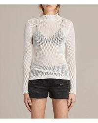 AllSaints | White Avril Top | Lyst