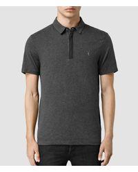AllSaints | Gray Brace Polo Shirt for Men | Lyst