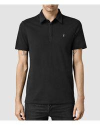 AllSaints   Black Brace Polo Shirt for Men   Lyst