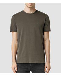 AllSaints | Green Brace Tonic Crew T-shirt Usa Usa for Men | Lyst
