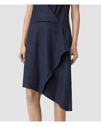 AllSaints - Blue Breeze Denim Dress - Lyst