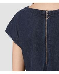 AllSaints - Blue Breeze Denim Dress - Lyst