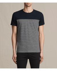 AllSaints   Blue Breton Tonic Crew T-shirt for Men   Lyst