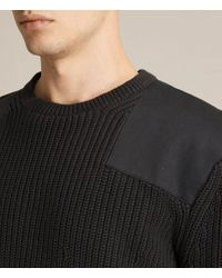 AllSaints | Black Byde Crew Sweater Usa Usa for Men | Lyst