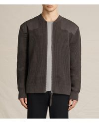 AllSaints | Multicolor Byde Zip Through Sweater Usa Usa for Men | Lyst