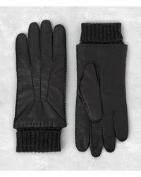 AllSaints | Black Denver Leather Gloves for Men | Lyst