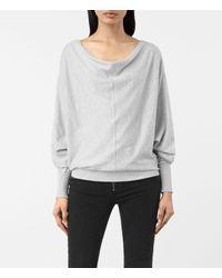 AllSaints | Gray Elgar Cowl Neck Sweater Usa Usa | Lyst