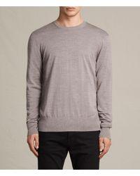 AllSaints | Gray Fors Merino Crew Jumper for Men | Lyst