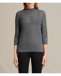 AllSaints | Gray Haze Sweater Usa Usa | Lyst
