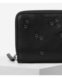 AllSaints - Black Junai Medium Leather Wallet Usa Usa - Lyst