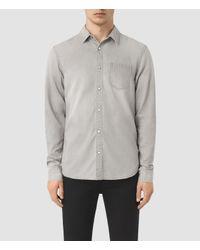 AllSaints | Gray Kaiam Denim Shirt Usa Usa for Men | Lyst