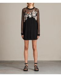 AllSaints   Black Keela Sweat Dress Usa Usa   Lyst